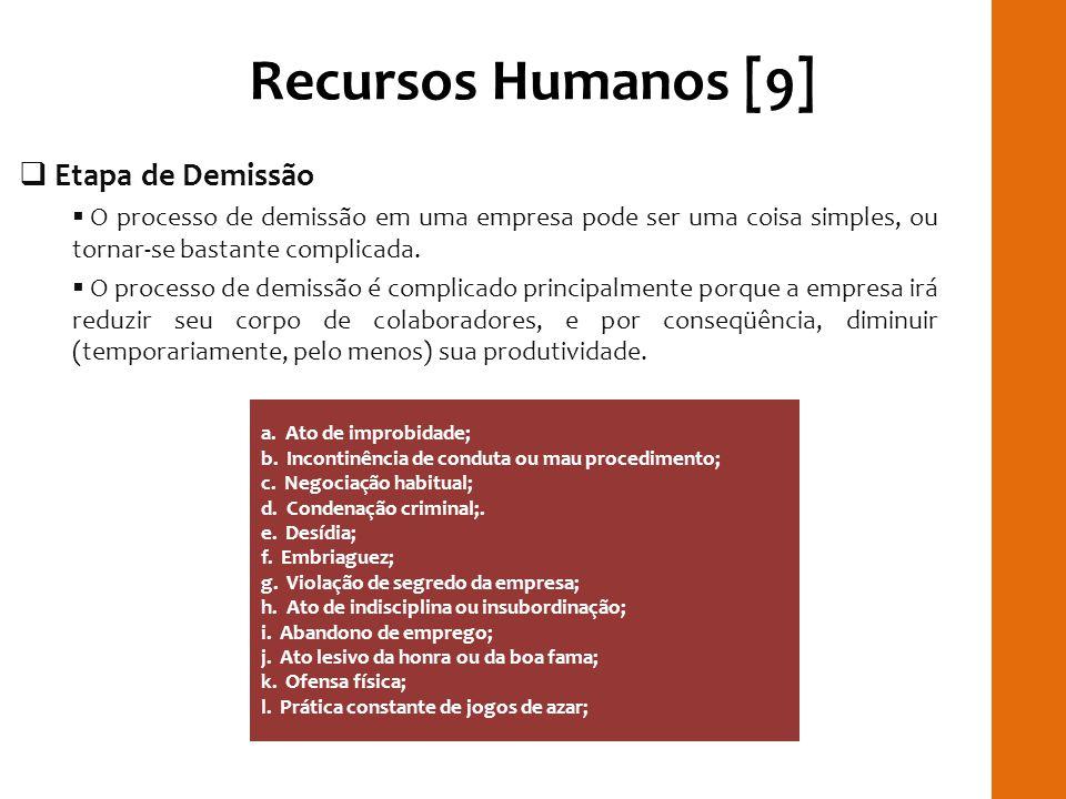 Recursos Humanos [9] RILAY Etapa de Demissão